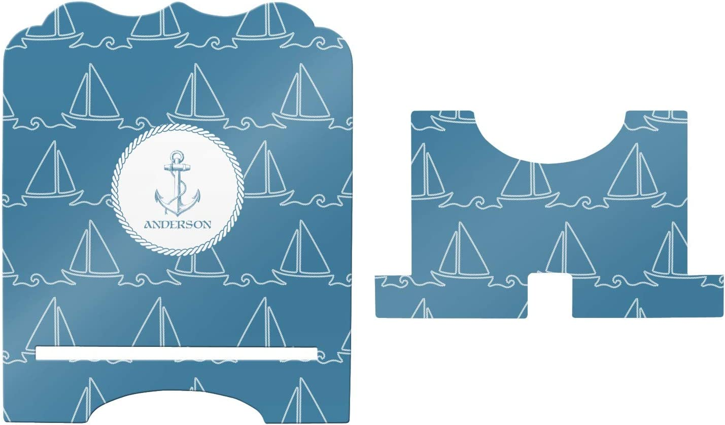 Personalized YouCustomizeIt Rope Sail Boats Stylized Tablet Stand