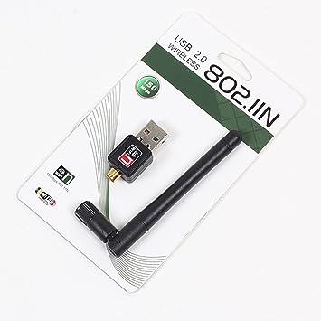 SIMERST Mini 150M USB WiFi Wireless LAN 802.11 n//g//b Adapter with Antenna
