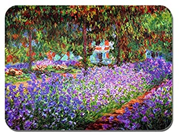 Claude Monet The Garden At Giverny Mouse Mat. High Quality Art Print