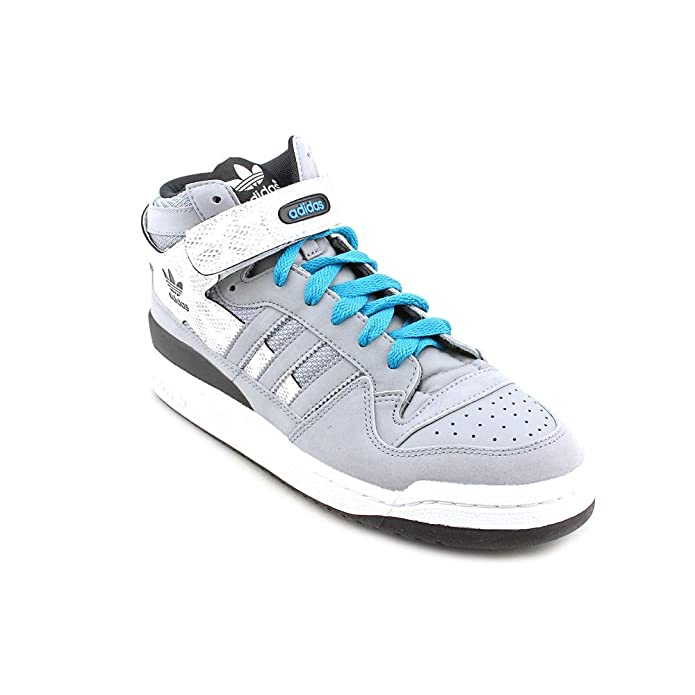 Adidas forum Mid Color: GRIS / blanco / cintas