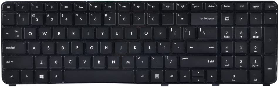Eathtek Replacement Keyboard with Backlit and Black Frame for HP Envy DV7-7000 DV7-7100 dv7t-7000 Pavilion m7-1000 m7-1078ca Series Black US Layout, Compatible Part Number 697459-001 NSK-CJBBW