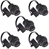 Anmbest 5PCS Panel Mounting RJ45 Waterproof Cat5/5e/6 8P8C Connector Ethernet LAN Cable Connector Double Head Coupler Adapter
