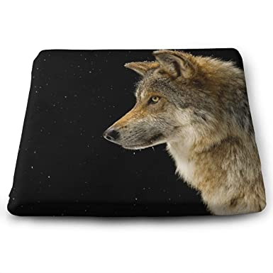 Amazon Seat Cushion For Office Chair Fashion Pad Square Car Mat Gray Wolf Truck DriverKitchen ChairsCarOffice Clothing
