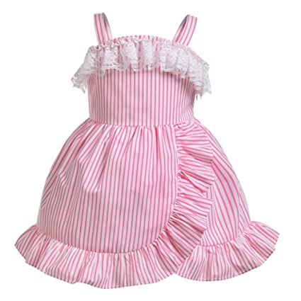 Trajes de fiesta de princesa Vintage Cosplay sin mangas Vestido de rosa a rayas Traje de