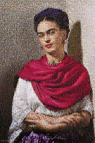 Frida Kahlo Mosaic Poster (Made With Pictures of Frida and her paintings) - (24