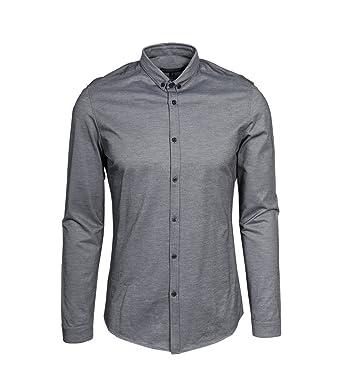 8fa4db06c1db Drykorn Herren Hemd-Hemd Pike aus Jersey grau: Amazon.de: Bekleidung