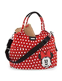 Disney Store Minnie Mouse Diaper Bag by Storksak Red Polka Dot