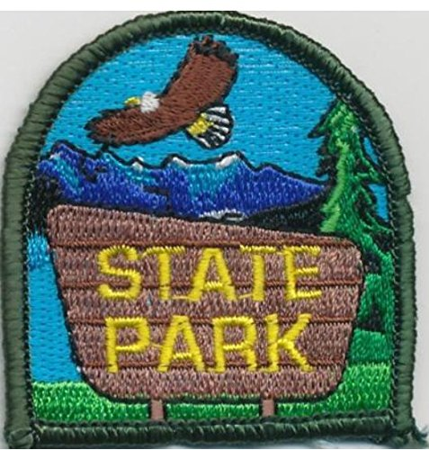 Cub Girl Boy STATE PARK Embroidered Iron-On Fun Patch Crests Badge Scout Guides - Embroidered Parka