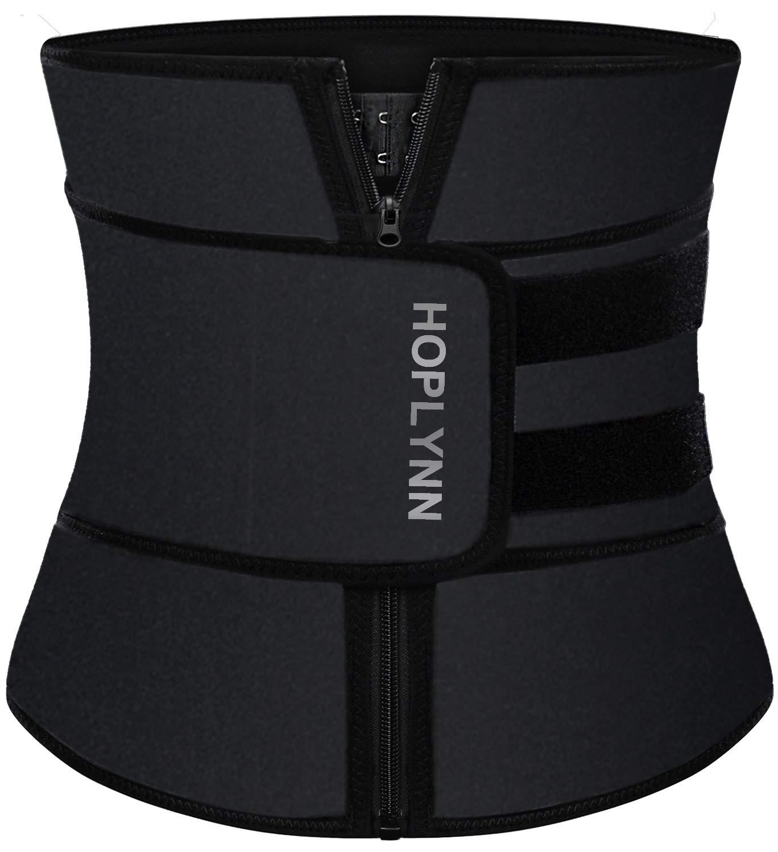 WADEO Waist Trimmer for Women Men Weight Loss Wrap Waist Trainer Neoprene Belt Stomach Slimmer Kit Back Support with Sauna Suit Effect