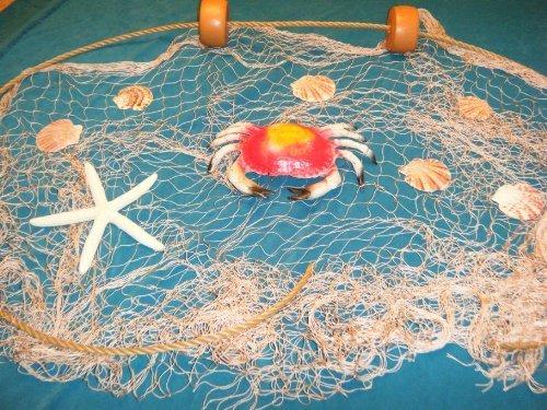 15 x 9 Angeln Net, Netz, nautisches Display, mit Krabbe, Seestern, Muscheln, Seil und schwimmt von Florida Netze