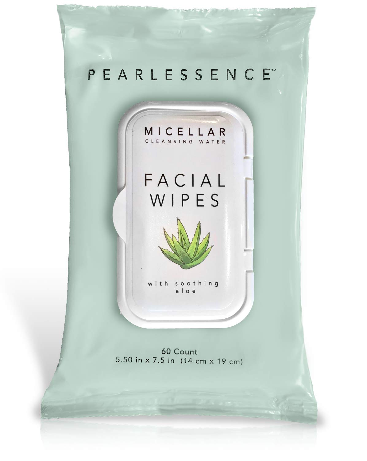 Micellar Cleansing Facial Makeup Remover Wipes w/Soothing Aloe, 60 Count (1 Pack)