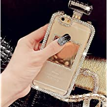 Sasa(TM)iPhone 6Plus /6sPlus Case ,Luxury Bling Crystal Diamond ChainPerfume Bottle Style TPU Case Cover for iPhone 6Plus/6sPlus (5.5 inch)