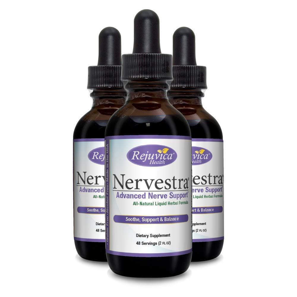 Nervestra Nerve Health Support Supplement | Fast, Natural Liquid Formula | Turmeric, B-Vitamins, Alpha Lipoic Acid & More (3)