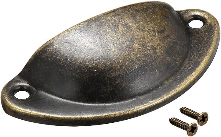 Sourcingmap/ /centros de 40/mm Agujero Estilo Vintage Taza carcasa cajones tirador bronce tono 4/piezas