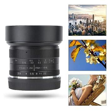 Oyunngs Lente de cámara, 7 Artesanos 7.5mm F / 2.8 Fisheye Lente ...