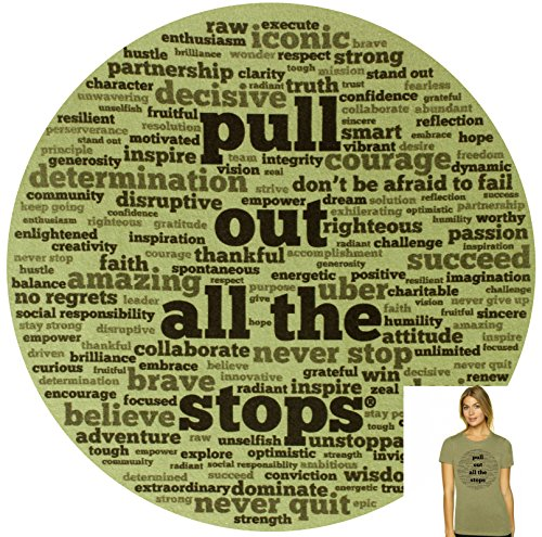 Pull Out All The Stops Women's Slim-Fit Junior's Cut Short Sleeve Cotton T-Shirt made our list of gift ideas rv owners will be crazy about make perfect rv gift ideas