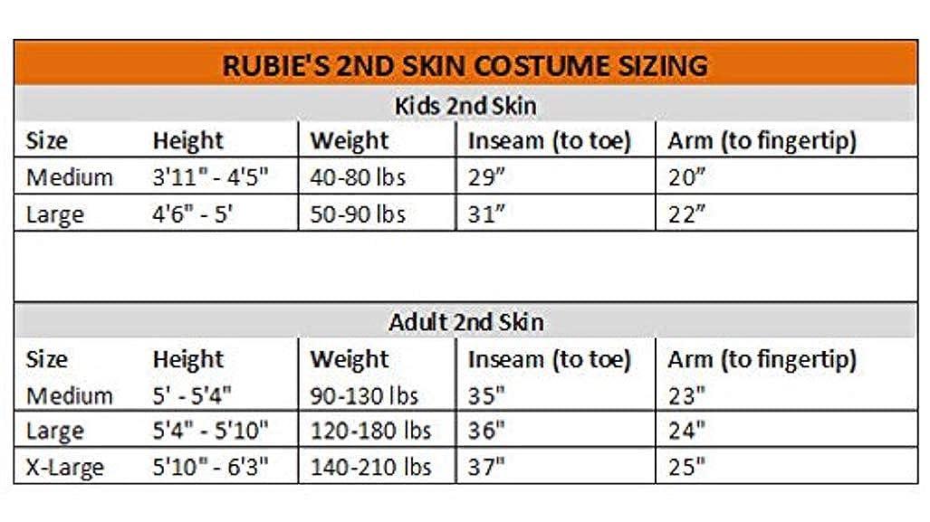 Rubies Adult Printed 2nd Skin