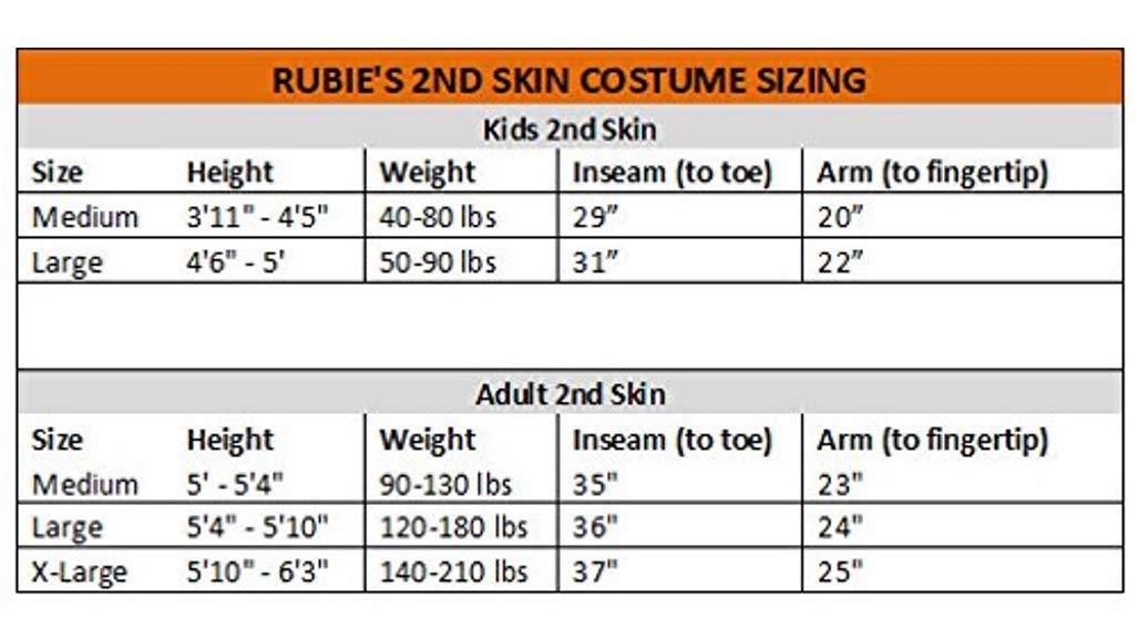 Rubie's 2nd Skin Black Suit