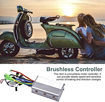 lahomie Controlador de Motor Sin Escobillas Eléctrico, Controlador de Patinete para Bicicleta Eléctrica de Aluminio Sin Escobillas para Bicicleta Eléctrica 24 V 250 W: Amazon.es: Deportes y aire libre