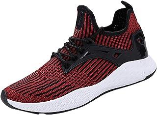 HuaMore Poids léger Couleur Unie Les Hommes de la Mode Mesh Respirant Chaussures Sneakers Chaussures décontractées Étudiant Chaussures de Course Un Pied