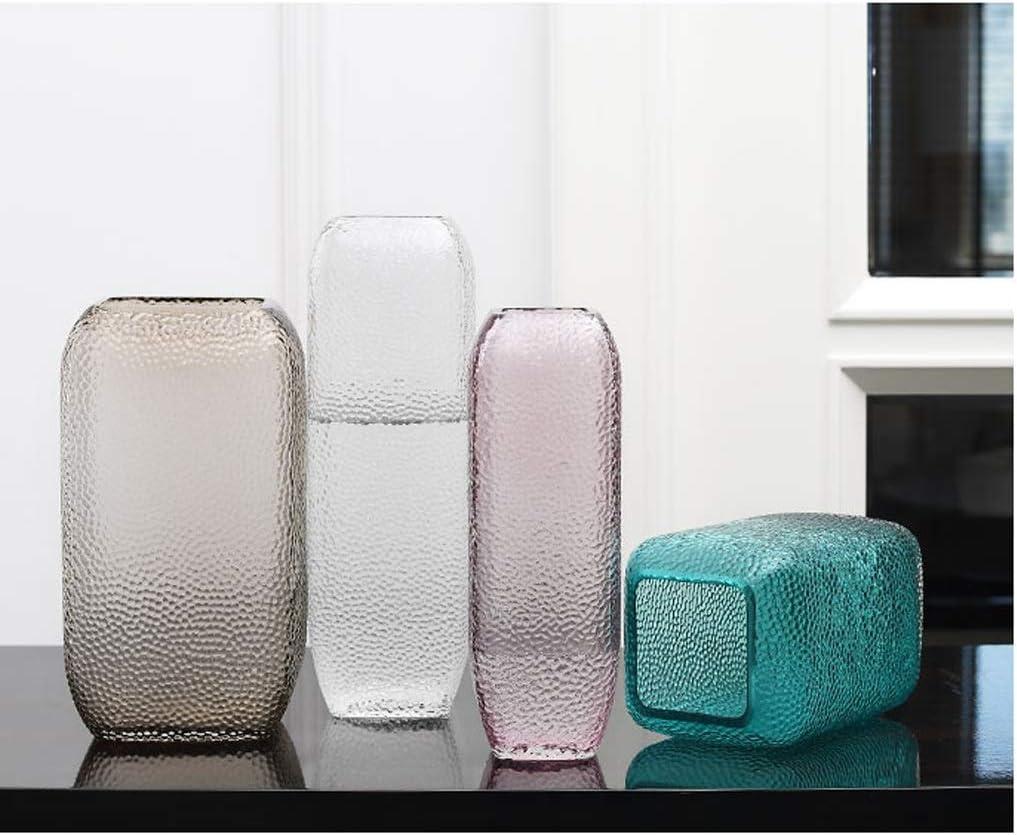 WYH Decorazione per la casa e Il Soggiorno Grigio A25 x 8 x 4,5 cm. Vaso in Cristallo Trasparente per Fiori