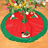 "CHNS 35"" Christmas Tree Skirt Xmas Holiday Tree Ornaments Decoration"