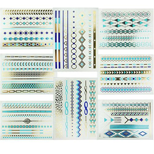 Moonlight® 8 Styles & 8 Sheets Pack, Metallic Removable ...