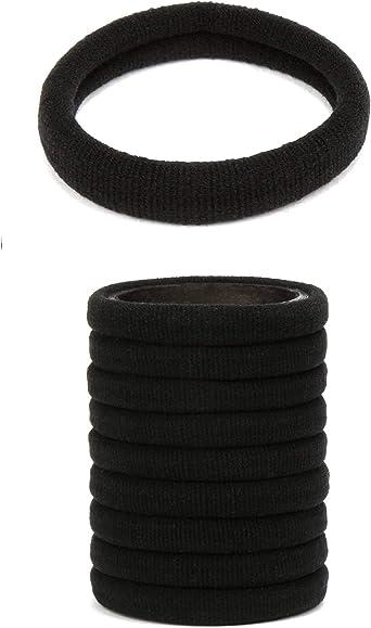 eb Soft Rolled Fabric Elastics Bobbles Gentle Endless Ponio Hair  Bands Tie