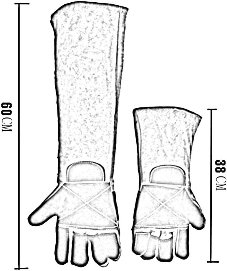 2 Taglie,Green-60CM 2 Colori ANHPI,Anti-Bite Guanti Doppio Strato Anti-Piercing Resistente al Taglio Difesa Grab Fa Male