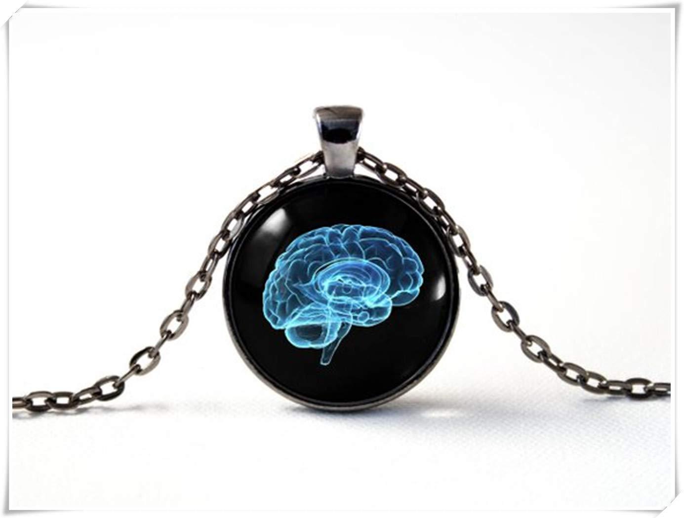 A little little love Human Brain Necklace,Anatomical Necklace Jewellery, Brain Jewelry,Anatomy Jewelry, Brain Pendant,Geeky Neuroscience