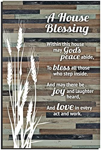 House Blessing Rustic Wood Plaque product image