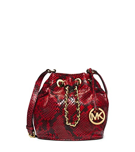 812a154e12c1 Michael Kors Frankie Embossed Python Leather Small Drawstring Crossbody Bag:  Handbags: Amazon.com