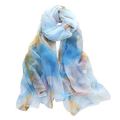 18173009b3ab Foulards Femme,Châle Élégant Dégradé Imprimé Couleur Longue Écharpe  Bringbring  Amazon.fr  Vêtements et accessoires