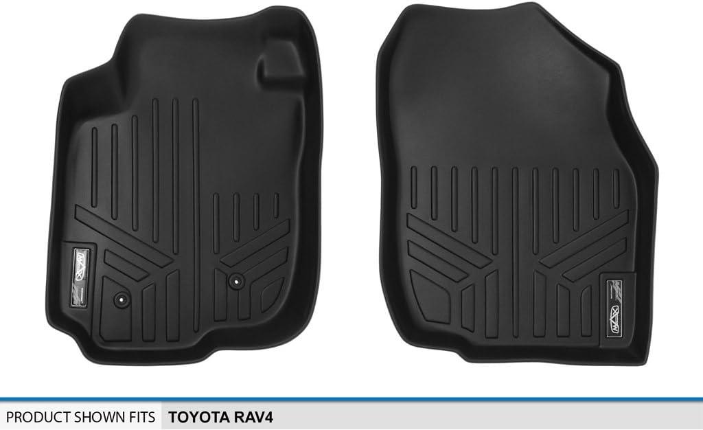 MAXLINER Floor Mats 1st Row Liner Set Black for 2006-2012 Toyota RAV4