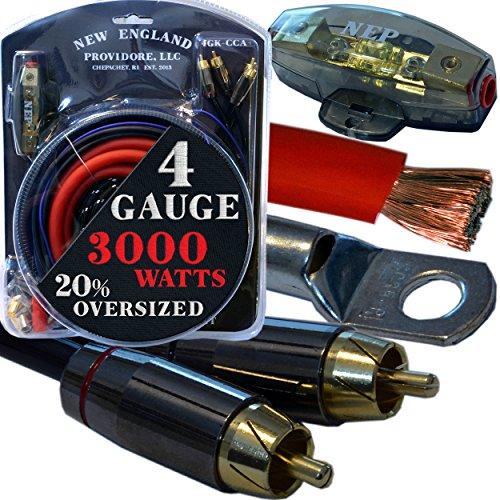 Amplifier Wiring Kits 10 Gauge - 4