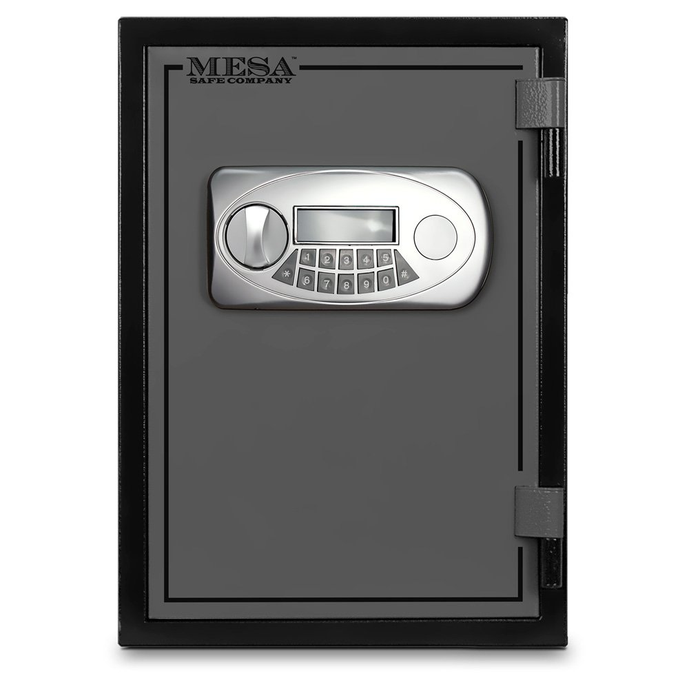 Mesa Safe MESA MF50E U.L. All Steel Classified Fire Safe with Electronic Lock, 0.6-Cubic Foot, Black and Grey