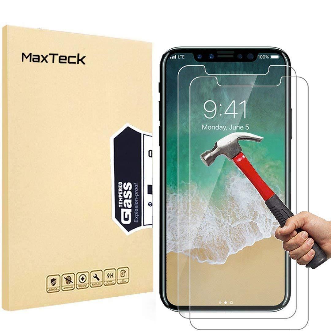 iPhone X Panzerglas Schutzfolie, Maxteck Panzerglas: Amazon.de ...