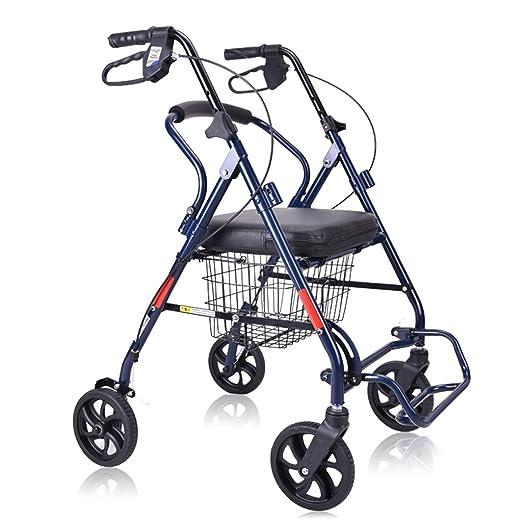 Handiy - Andador plegable multifuncional con ruedas de 7 pulgadas ...