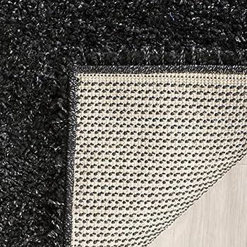 Safavieh California Premium Shag Collection SG151-9090 Black Area Rug (4 x 6)