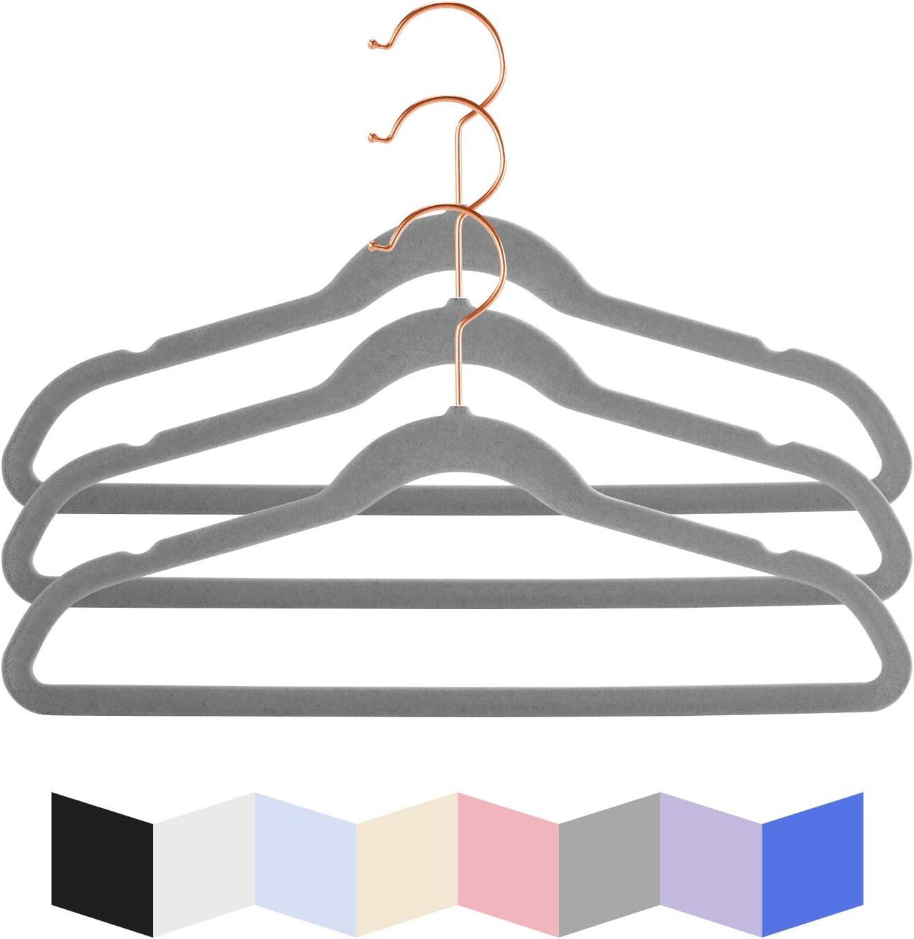 35,6 cm breit rutschfest Kleider platzsparend Grau-01 MIZGI Hochwertige Samt-Kleiderb/ügel f/ür Kinder Hosen Kleiderb/ügel ultrad/ünn f/ür kleine Kinder R/öcke mit Kupfer-//Rotgold-Haken