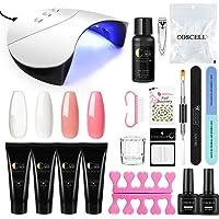 Vilamon 4 Colores Poly UV Gel USB Lámpara 36W Nail Dryer Topcoat Base Coat Kit para Manicura Pedicura