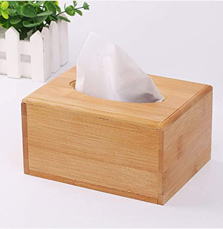 pour Le Salon et la Chambre Ruikey Bo/îte /à mouchoirs en Papier carr/é en Bois Naturel bo/îte de Papier de pompage