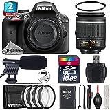 Holiday Saving Bundle for D3300 DSLR Camera + AF-P 18-55mm + 2yr Extended Warranty + 16GB Class 10 + + 1, + 2, + 4 & + 10 Macro Filter Kit + UV Filter + Cleaning Kit - International Version