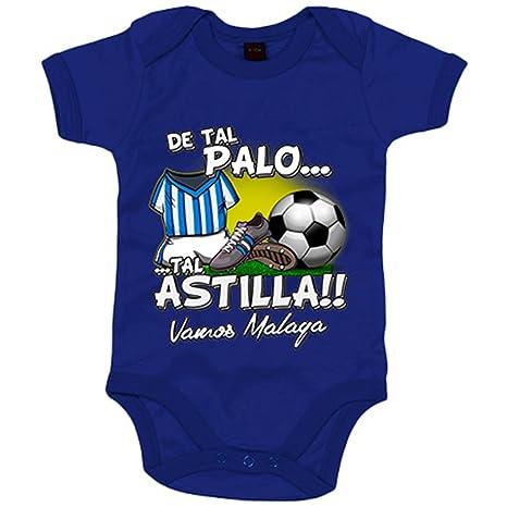 Body bebé De tal palo tal astilla Málaga fútbol - Azul Royal, 6-12