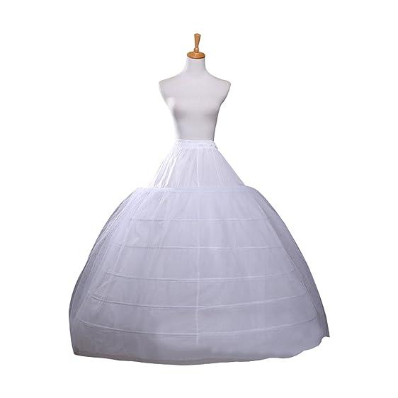 YESKY 6 Hoops Skirt Wedding Dress Bridal Petticoat Underskirt Crinoline Slip For Women