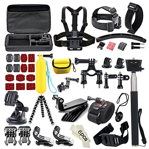 SOOCOO Sports Action Camera Accessories Kit 4 in 1 for Campark AKASO Crosstour DBPOWER FITFORT EKEN APEMAN ODRVM...
