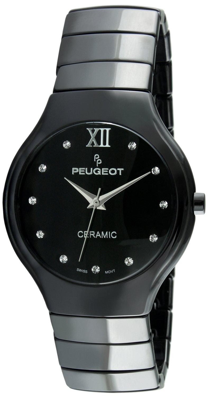 Peugeot Swiss Women's Black Ceramic Watch PS4898BK