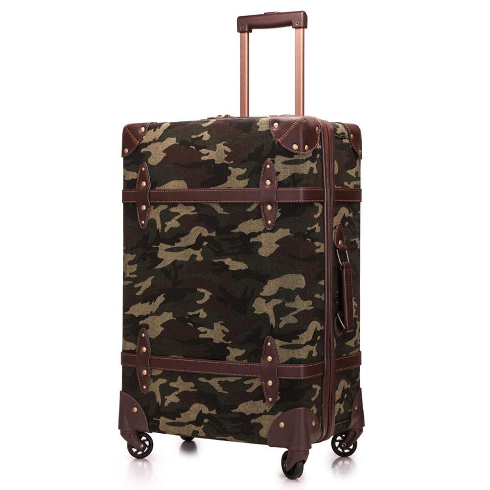 ハードトロリーケース、ユニバーサルホイールスーツケース、TSA税関ロックボックス、PP軽量スーツケース、出張旅行-Camouflage-L B07V2Y4J4B Camouflage Large