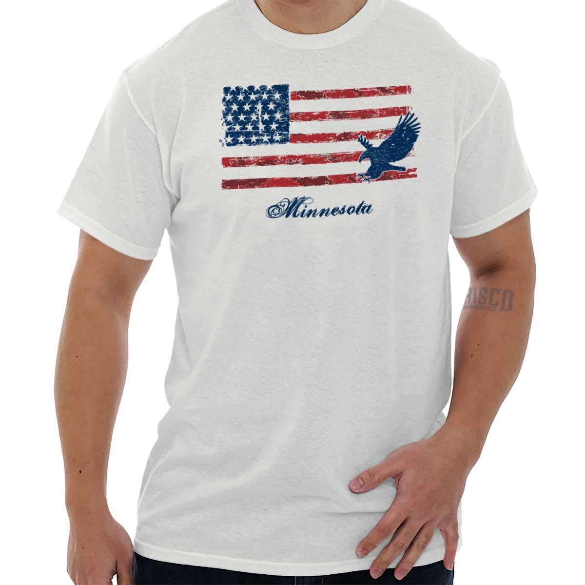 Minnesota Usa T Shirt American Flag Shirt Vintage Gift Ideas T Shirt