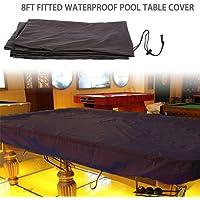 Funda para mesa de billar, ajustable, resistente al agua y al polvo, tela Oxford, protección de mesa de billar con…